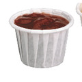 PLEATED SOUFFLE CUP 3/4 OZ PPR WHI 20/250