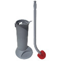 ERGO TOILET BOWL BRUSH SYSTEM W/ HOLDER 26IN HNDL5