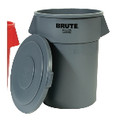 55 GALLON GREY TRASH CAN RECEPTACLE