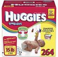 Huggies - Snug & Dry Diapers, Step 1-2 (8-15 lbs.), 264 ct.