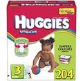 Huggies - Snug & Dry Diapers, Step 3 (16-28 lbs.), 204 ct.