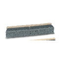 PUSH BROOM 24 IN FLAGGED POLY BRISTLES GRA 12