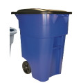 50 GAL BRUTE ROLLOUT CONTAINER|BLUE