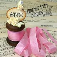 Vintage Seam Binding - Vivid Pink