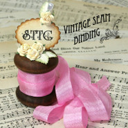 Vintage Seam Binding - Siam Pink