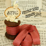Vintage Seam Binding - Brique