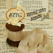 Vintage Seam Binding - 1 Foot - Bark Tan