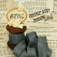 Vintage Seam Binding - Charcoal Grey