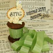 Vintage Seam Binding - Moss Green