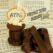Vintage Seam Binding - Mimi Brown