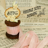 Vintage Seam Binding - Lyric Rose