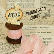 Vintage Seam Binding - 1 Foot - Lyric Rose