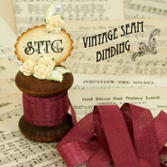Vintage Seam Binding - Bordeaux Wine
