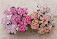 "WOC - Cottage Roses - 25mm (1"") - Mixed Pink Tone - (20)"