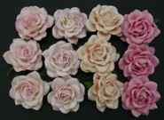 "WOC - Trellis Roses - 35mm (1-3/8"") - Mixed Pink Tone - (20)"