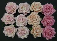 "WOC - Trellis Roses - 35mm (1-3/8"") - Mixed Pink Tone - (20)"
