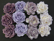 "WOC - Trellis Roses - 35mm (1-3/8"") - Mixed Purple/Lilac Tone - (20)"