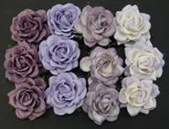 "WOC - Trellis Roses - 35mm (1-3/8"") - Mixed Purple/Lilac Tone - (20)"