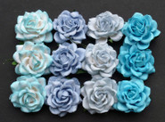 "WOC - Trellis Roses (20) - Mixed Blue Tone - 35mm (1-3/8"")"