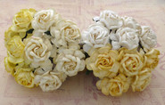 "WOC - Tea Roses (20) - Mixed White/Cream Tone - 40mm (1-1/2"")"