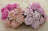 """WOC - Tea Roses (20) - Mixed Pink Tone - 40mm (1-1/2"""")"""
