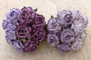 "WOC - Tea Roses (20) - Mixed Purple/Lilac Tone - 40mm (1-1/2"")"