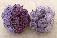 "WOC - Tea Roses (20) - Mixed Purple/Lilac Tone - 40mm (1-1/2"")"