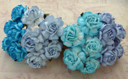 "WOC - Tea Roses (20) - Mixed Blue Tone - 40mm (1-1/2"")"