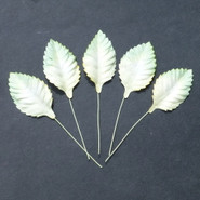 "WOC - Leaves - 2-Tone Green/White Mulberry Paper 45mm (1-3/4"") -  10"