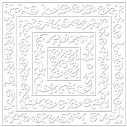 "Bazzill Basics - 12x12 Cardstock - Specialty - ""Embossed"" - Shabby Chic"