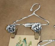 """Melissa Frances - Vintage Metal Clip Hanger - Flower Clip 8"""""""