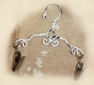 """Melissa Frances - Vintage Metal Clip Hanger - Scroll 6"""""""