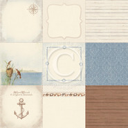 Pion Design - Shoreline Treasures - 12x12 Memory Notes Paper - III