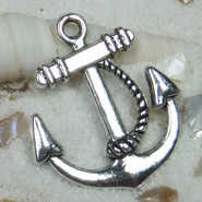 Charm - Anchor - Metal - Silver Tone