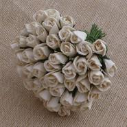 "WOC - Rosebuds 6mm (1/4"") - Ivory - (10)"
