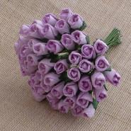"WOC - Rosebuds 6mm (1/4"") - Lilac - (10)"