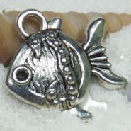 Charm - Fish #03 - Metal - Silver Tone