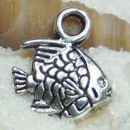 Charm - Fish #04 - Metal - Silver Tone