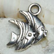 Charm - Fish #05 - Metal - Silver Tone