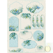 LemonCraft - Forget Me Not - A4 Paper - Labels