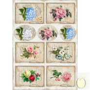 LemonCraft - A4 Paper - Vintage Flowers - Labels 2