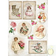 LemonCraft - A4 Paper - Vintage Children - Labels