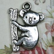 Charm - Koala Bear - Metal - Silver Tone