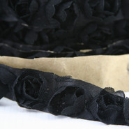 "May Arts - Rosette Trim with Adhesive - 1 Yard - 5/8"" - Black"