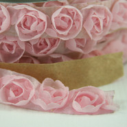 """May Arts - Rosette Trim with Adhesive - 1 Yard - 5/8"""" - Pink"""