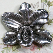 Charm - Orchid - Metal - Silver Tone