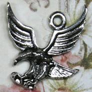 Charm - Eagle - Metal - Silver Tone