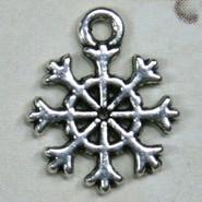 Charm - Snowflake #1 - Metal - Silver Tone