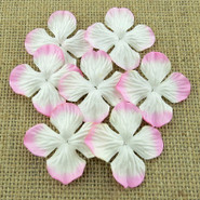 """WOC - Hydrangea Blooms - 25mm (1"""") - 2-Tone Baby Pink - 10 pack"""