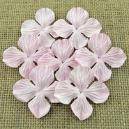 "WOC - Hydrangea Blooms - 25mm (1"") - Pink Mist - 10 pack"